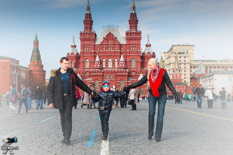 Фотосессия на Красной площади
