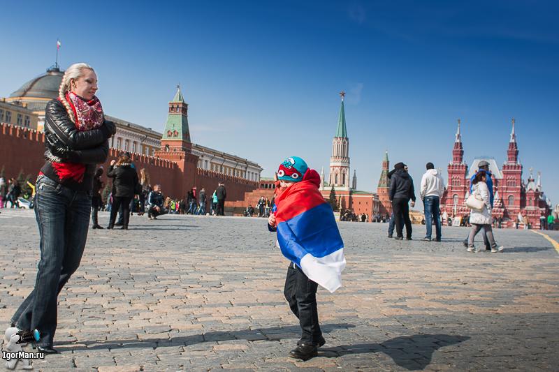 сфотографироваться на Красной площади