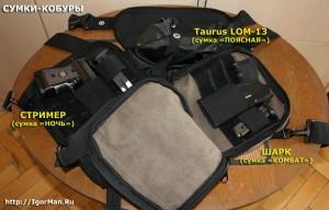 Сумки-кобуры для скрытого ношения пистолета