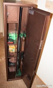 Сейф для ружья - Оружейный шкаф О-2M