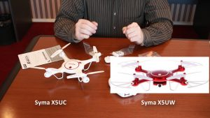 Разница между Syma X5UC и Syma X5UW