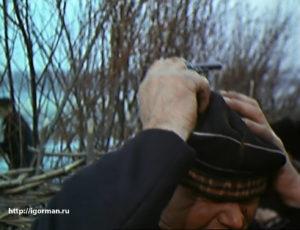 Гришка Мелихов (Пётр Глебов) зарубил Василия Шукшина (матрос)